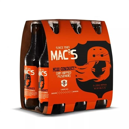 MACS MISS CONDUCT DRY HOPPED PILSENER 6PK 330ML MACS MISS CONDUCT DRY HOPPED PILSENER 6PK 330ML