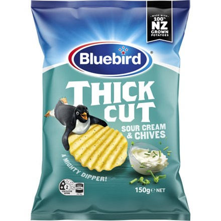 Bluebird Thick Cut - Sour Cream & Chives 150g Bluebird Thick Cut - Sour Cream & Chives 150g
