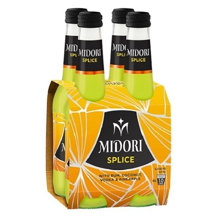 MIDORI SPLICE 275ML 4PACKS BOTTLES MIDORI SPLICE 275ML 4PACKS BOTTLES