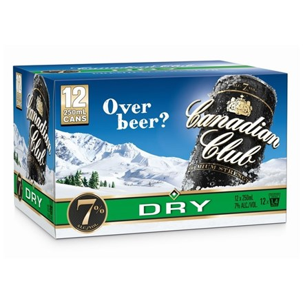 CANADIAN CLUB DRY 12 PK CANS CANADIAN CLUB DRY 12 PK CANS