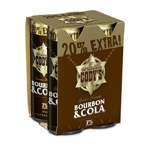 CODYS 7% 4PK CANS BIG 300ML CODYS 7% 4PK CANS BIG 300ML