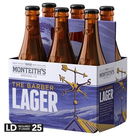 MONTEITHS THE BARBER LAGER 6 PACK MONTEITHS THE BARBER LAGER 6 PACK