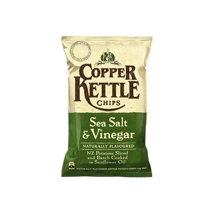 Copper Kettle Potato Chips Salt & Vinegar 150g Copper Kettle Potato Chips Salt & Vinegar 150g