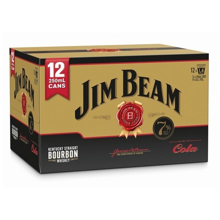 JIM BEAM GOLD 7% 12PK 250 ML CANS JIM BEAM GOLD 7% 12 PK CAN 250 ML