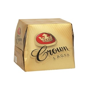 CROWN LAGER 12PK BOTTLES 375ML CROWN LAGER 12PK BOTTLES 375ML