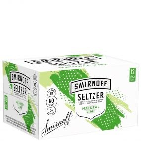 SMIRNOFF SELTZER NATURAL LIME 12 PK CAN 250ML SMIRNOFF SELTZER NATURAL LIME 12 PK CAN 250ML