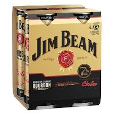 JIM BEAM COLA 4PK 250ML CANS JIM BEAM COLA 4PK 250ML CANS