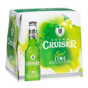 CRUISER 5% COOL LIME 12PK BTLS 275ML CRUISER 5% COOL LIME 12PK BTLS 275ML