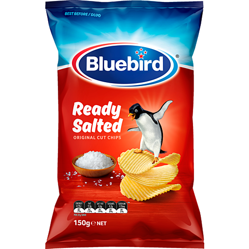 Bluebird Originals Potato Chips Ready Salted 150g Bluebird Originals Potato Chips Ready Salted 150g