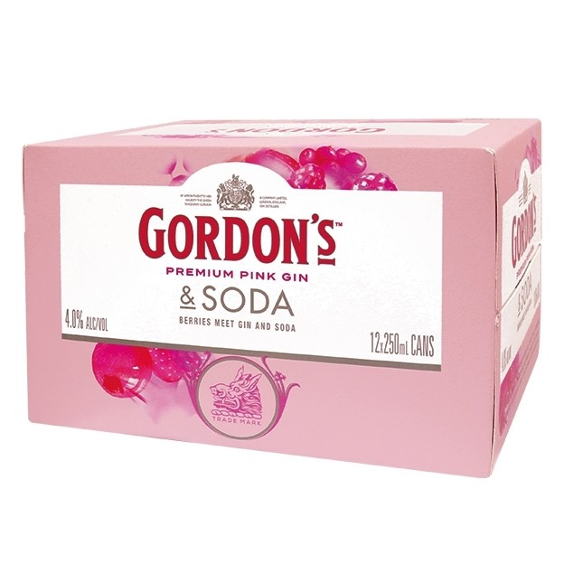 GORDON'S PINK 12PK CANS GORDON'S PINK 12PK CANS