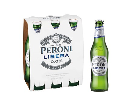 PERONI LIBERA 0.0% 6 PACK OF 330ML PERONI LIBERA 0.0% 6 PACK OF 330ML