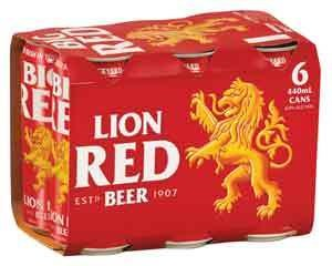 LION RED BEER 6PK 440ML LION RED BEER 6PK 440ML